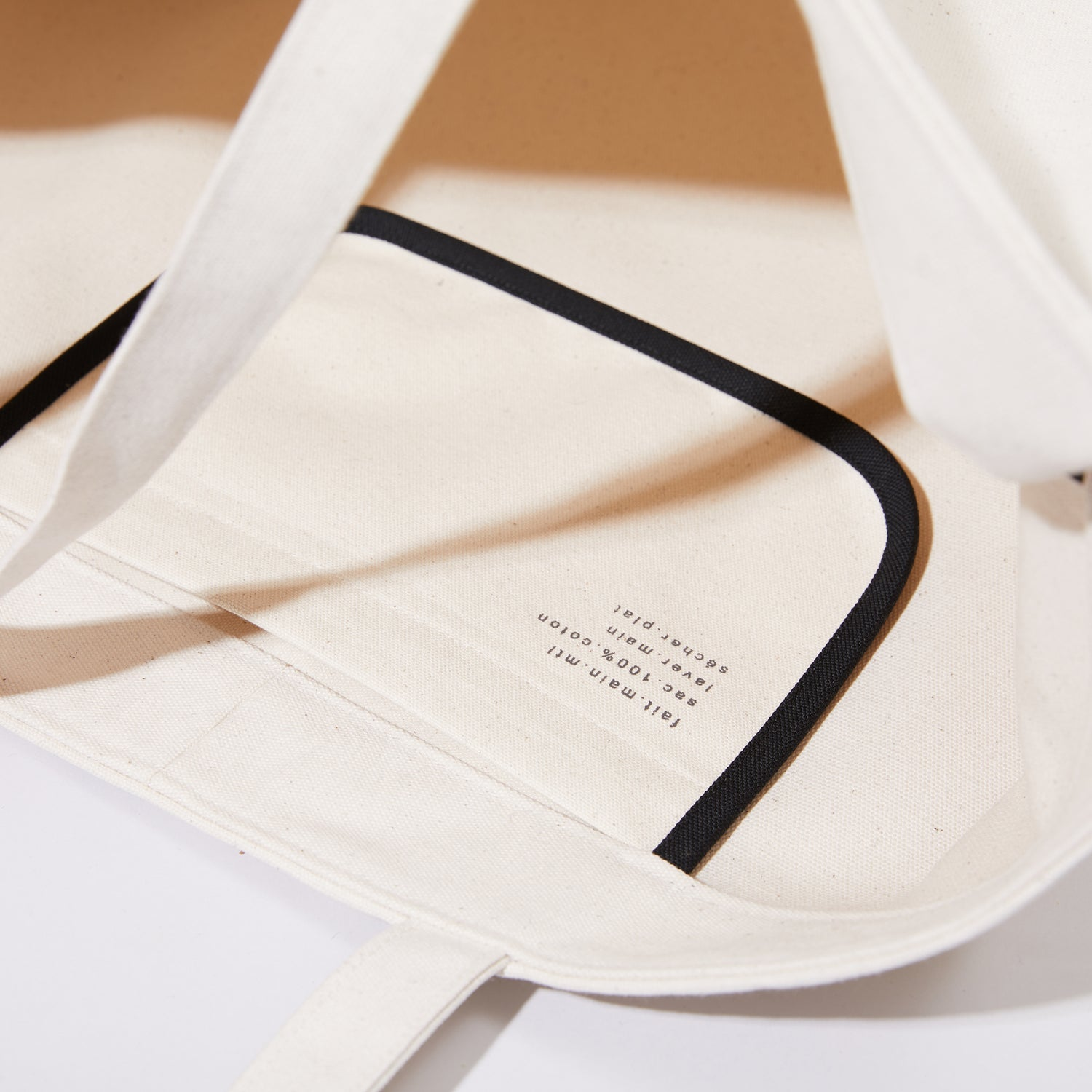 Sold out<br>Tote oversize Couleur crème
