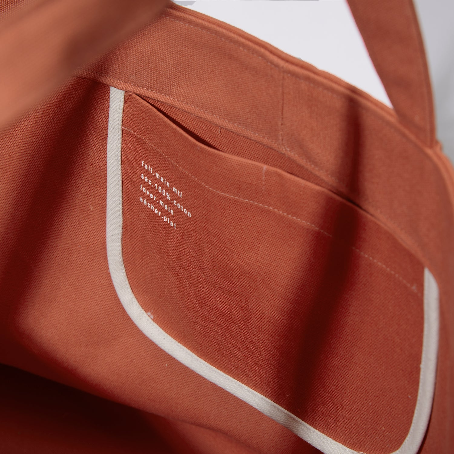 Sold out<br>Tote oversize Couleur terracotta