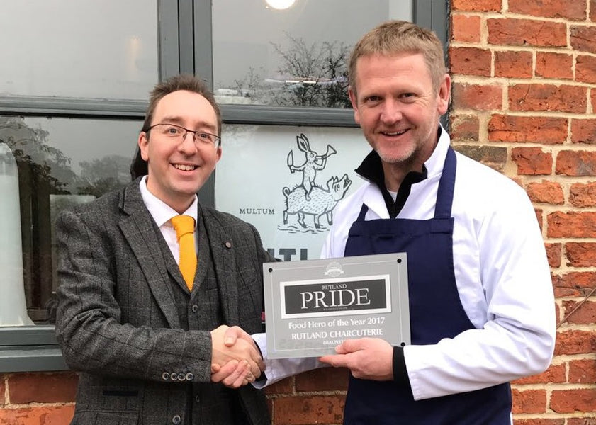 We've won a Food Hero award from Rutland Pride!
