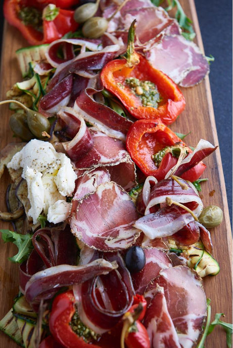 Charred Roast Vegetable Charcuterie Board Recipe
