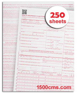 250 CMS-1500 Claim Forms 02/12 Version 8.5 x 11 Printable