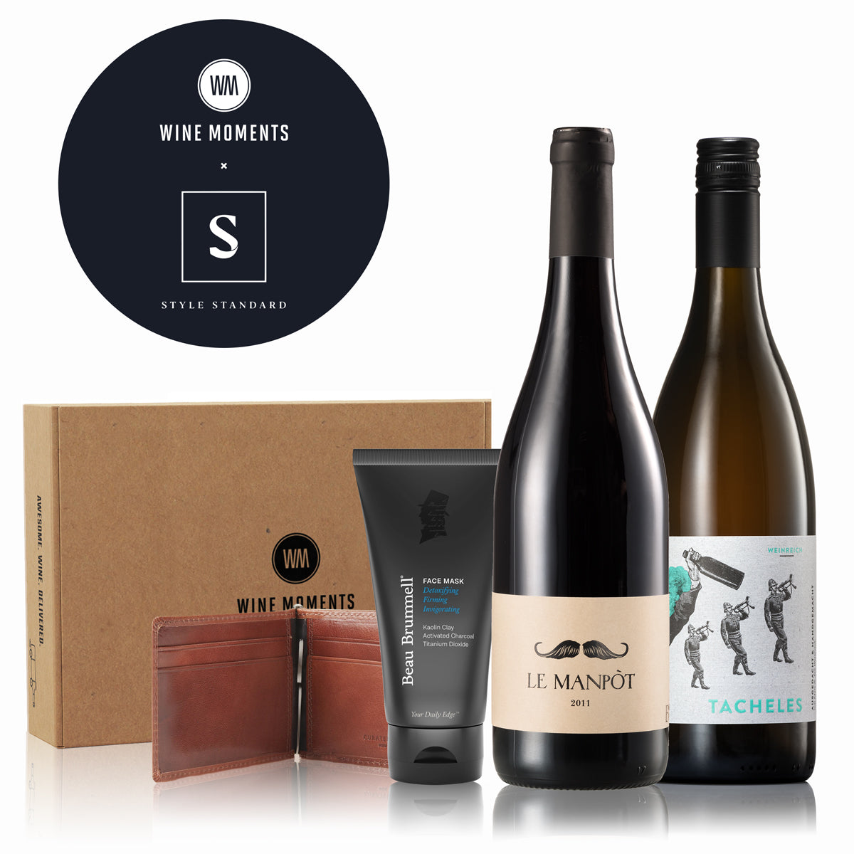 Wine Moments x Style Standard Treat Your Man Gift Box Contents and Gift Box