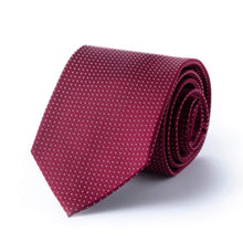Red Necktie with White Pindots