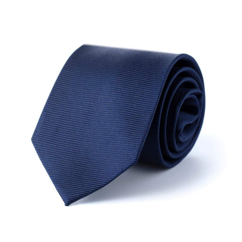 Solid Navy Tie rolled up | Style Standard