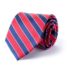 Red and Blue Repp Tie