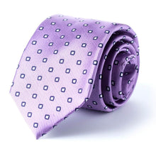 Purple Geometric Tie
