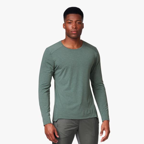 On Running Mens Comfort Long-T Front View