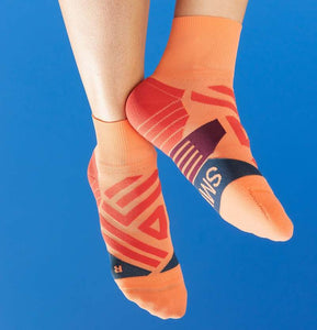 Womans Mid Sock Coral / Navy