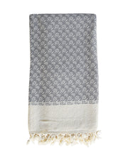 Handwoven Chunky Throw / Charcoal Grey