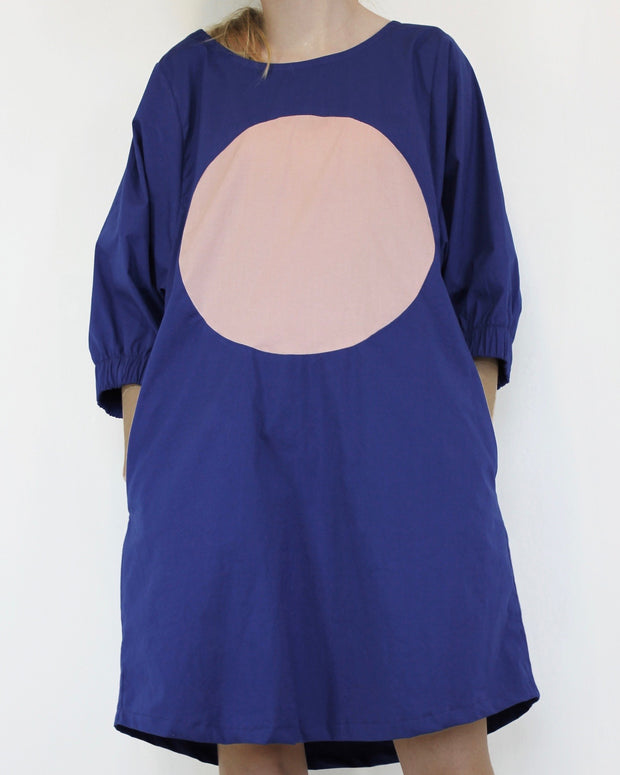 Full Circle Dress Blue and Pink