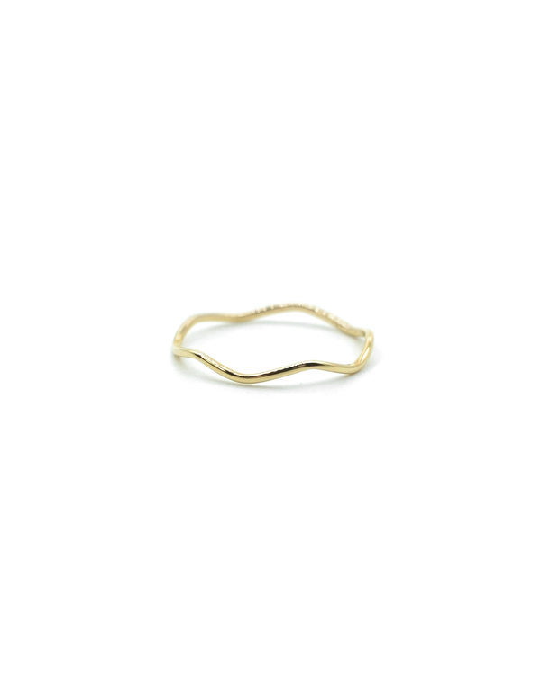 Golden Wave Ring