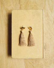 Round Tassel Earrings Gold