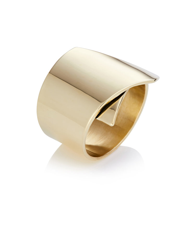 Fold Over Brass Ring