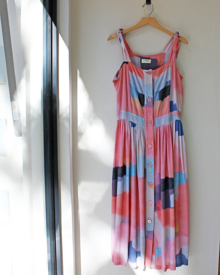 Kenya Dress Pink Water - Only 1 Large Available!