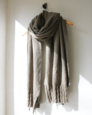 Cassie Cable Wrap Scarf Avo