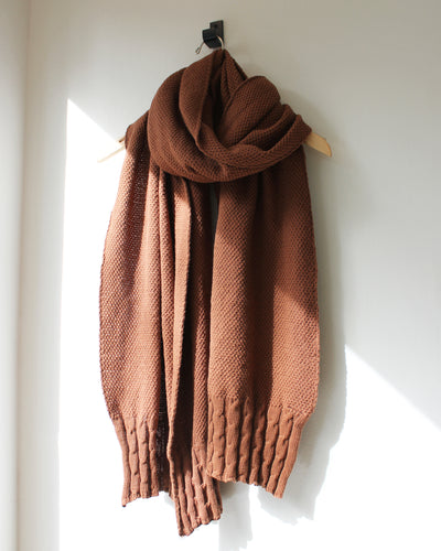Cassie Cable Wrap Scarf Bronze