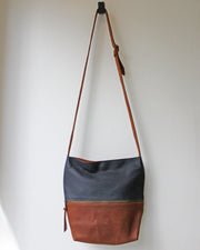 Zipped Cross Body Two-Tone