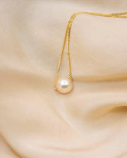 Medium Peach Pearl Necklace