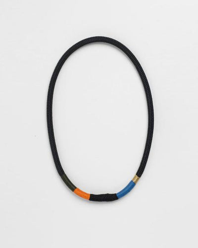 Thin Ndebele Necklace Black