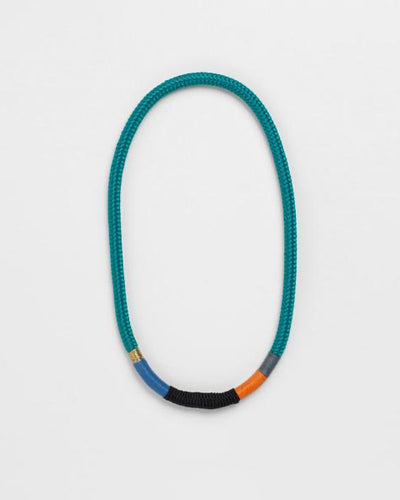 Thin Ndebele Necklace Green