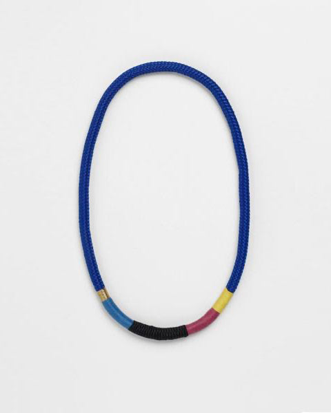 Thin Ndebele Necklace Blue