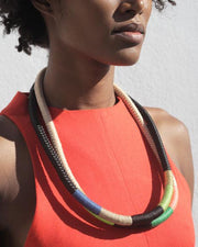 Thin Ndebele Necklace Beige