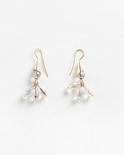Plumeria Earrings Clear