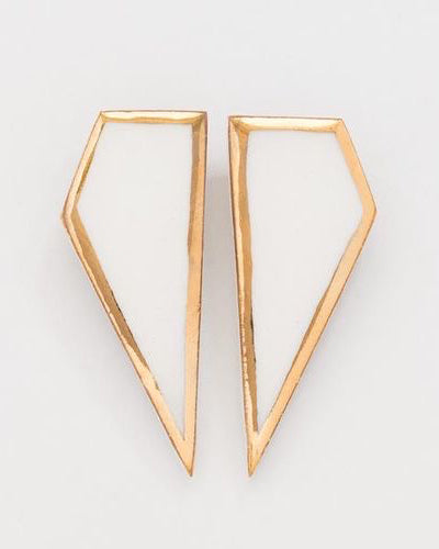 Shard Earrings White