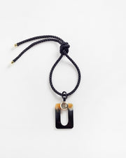 Mythos Pendant Necklace Black