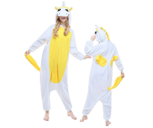 YELLOW UNICORN ONESIE