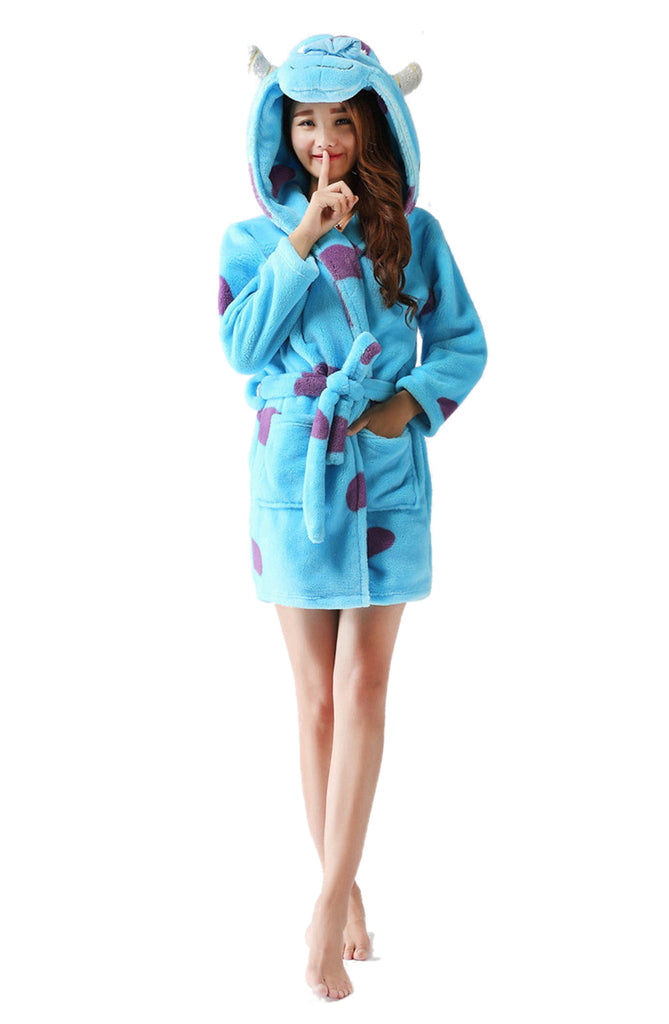 Sully Hooded Bathrobe - Flannel-Belife Animal Onesies for Kids and Adults 7bb8c3ba0