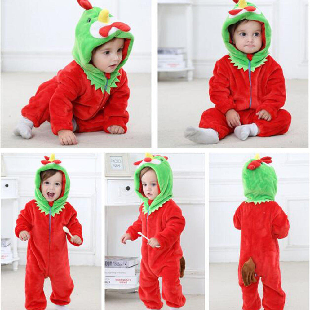 Red Chicken Onesie - Flannel-Kigurumi-Belife