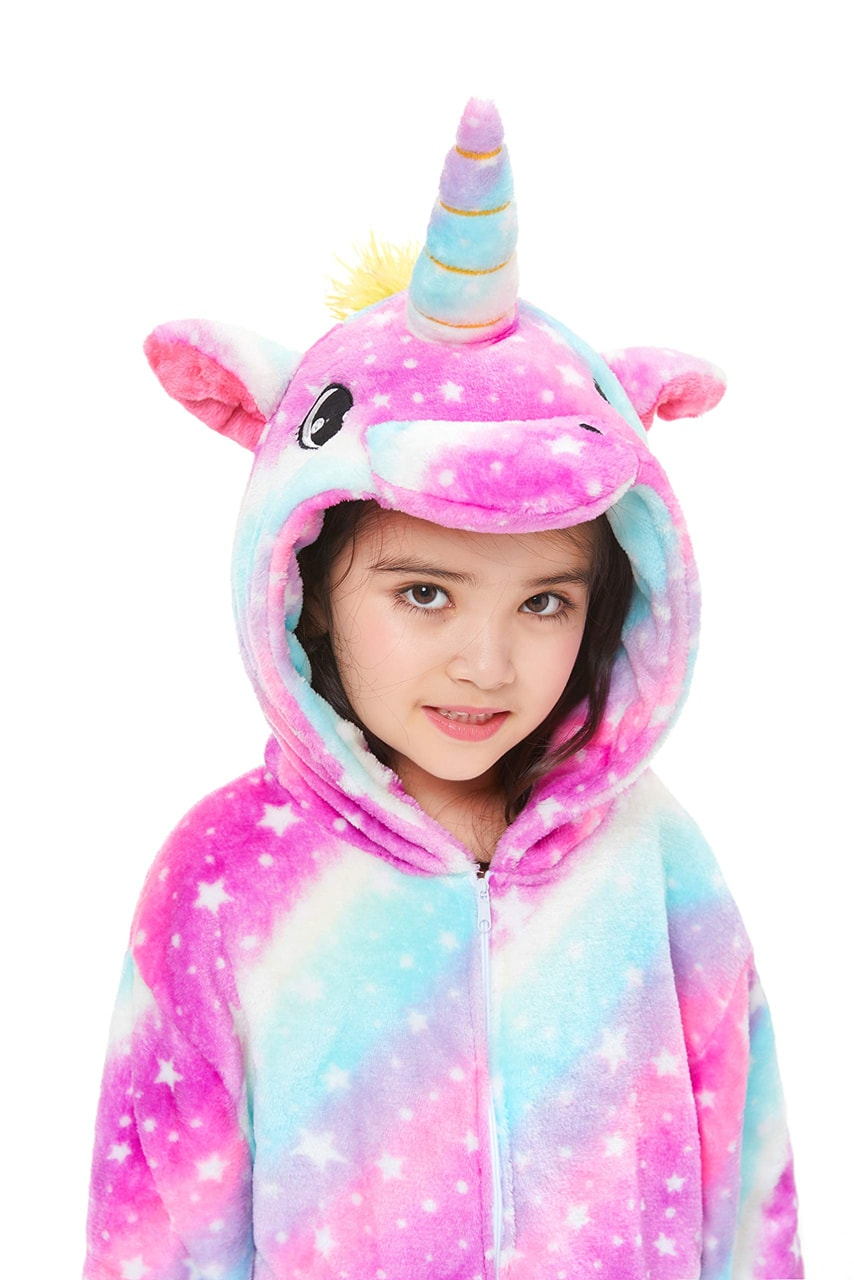 Galaxy Unicorn Onesie - Flannel Zipper-Kigurumi-Belife