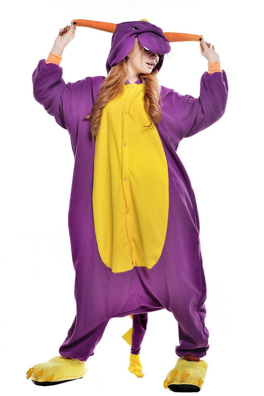 Purple Dragon Onesie - Fleece-Kigurumi-Belife