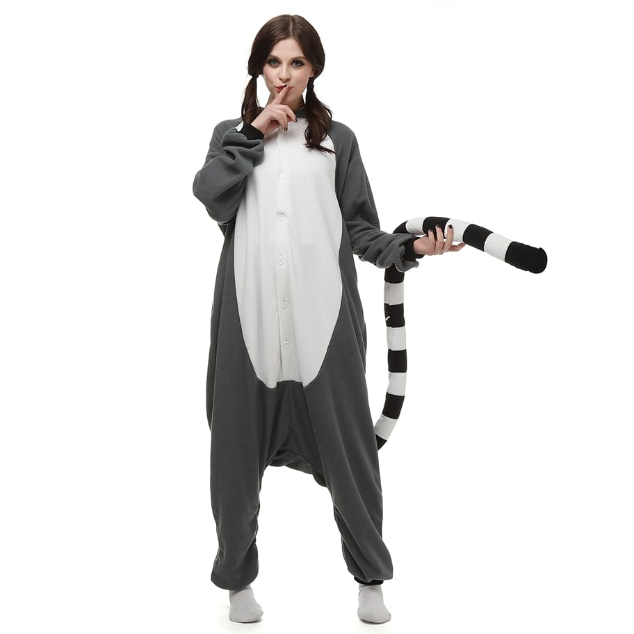 Ring-Tailed Lemur Kigurumi - Fleece-Kigurumi-Belife