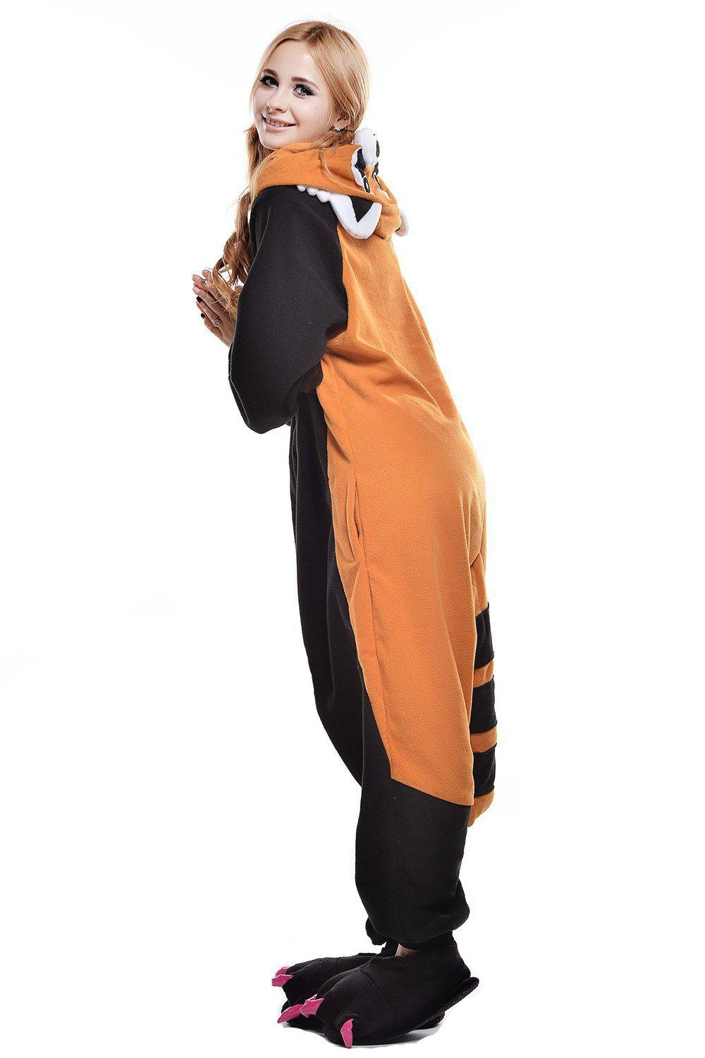 Image of: Raccoon Kigurumi Adult Sizing Onesieshow Red Panda Onesie Fleece Belife Animal Onesie For Kids And Adults
