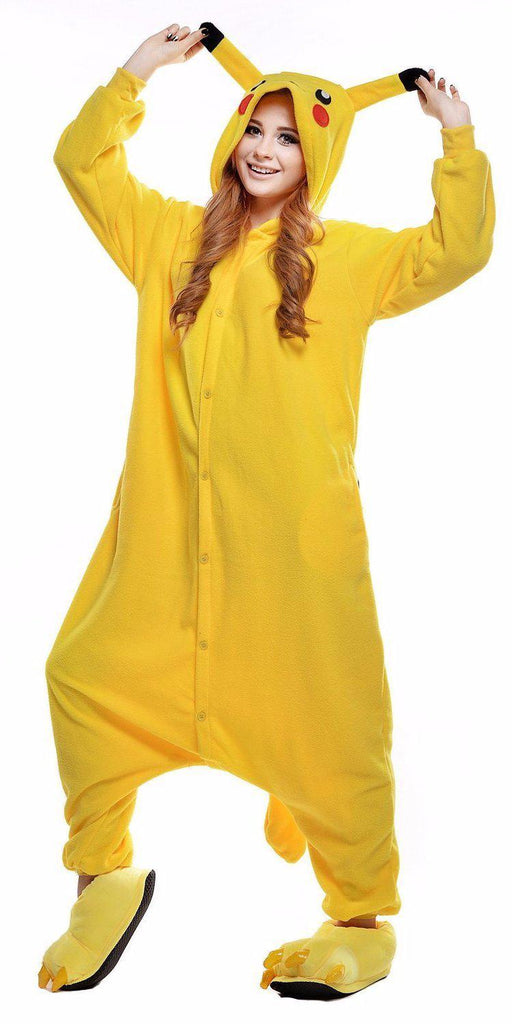 08a625e7e5ca Pokemon Pikachu Onesie - Fleece-Belife Animal Onesies for Kids and Adults