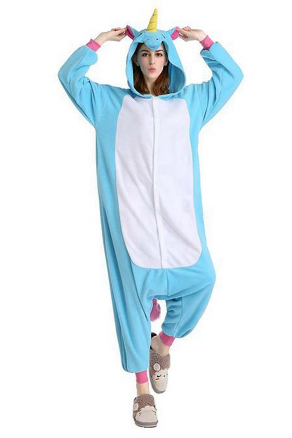 19e9aa96f0c3 Pink Unicorn Onesie - Flannel – Belife Animal Onesie for Kids and Adults