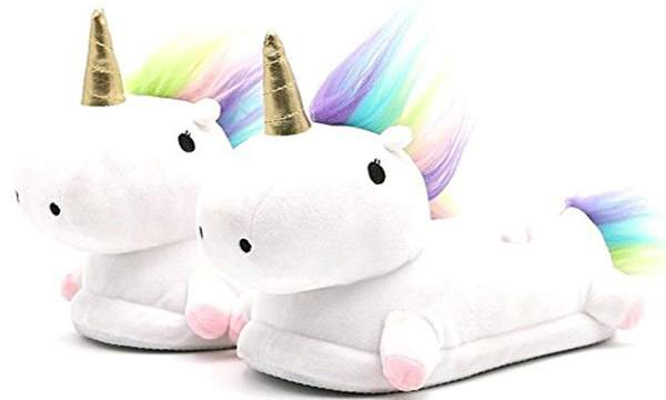Unicorn Plush Slippers-Shoes-Belife