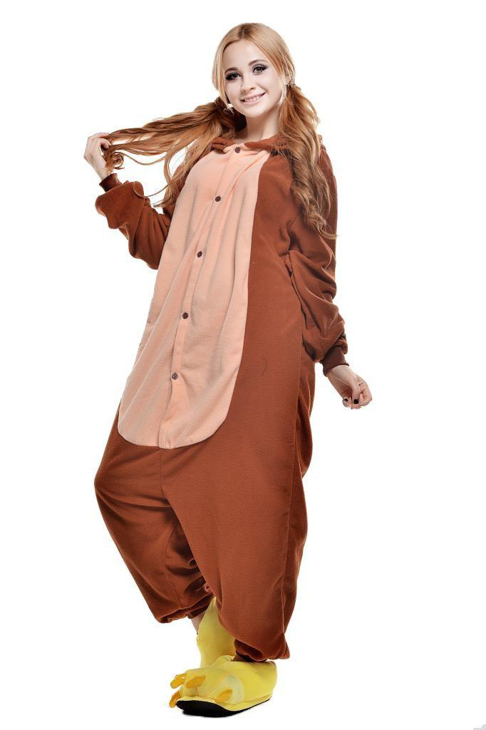 Monkey Onesie - Fleece-Kigurumi-Belife