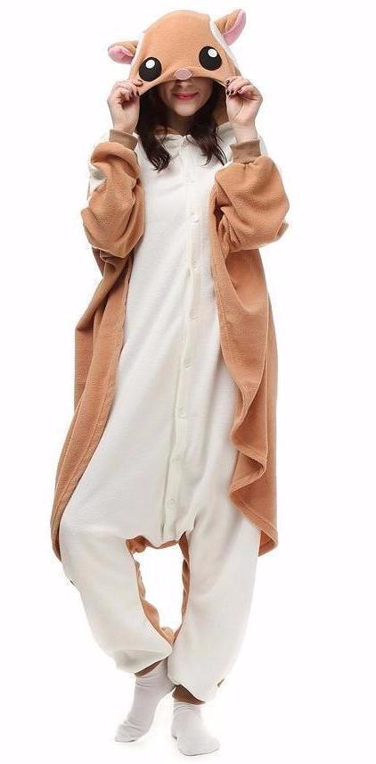 dfa5447e0a09 Flying Squirrel Onesie - Fleece-Belife Animal Onesies for Kids and Adults