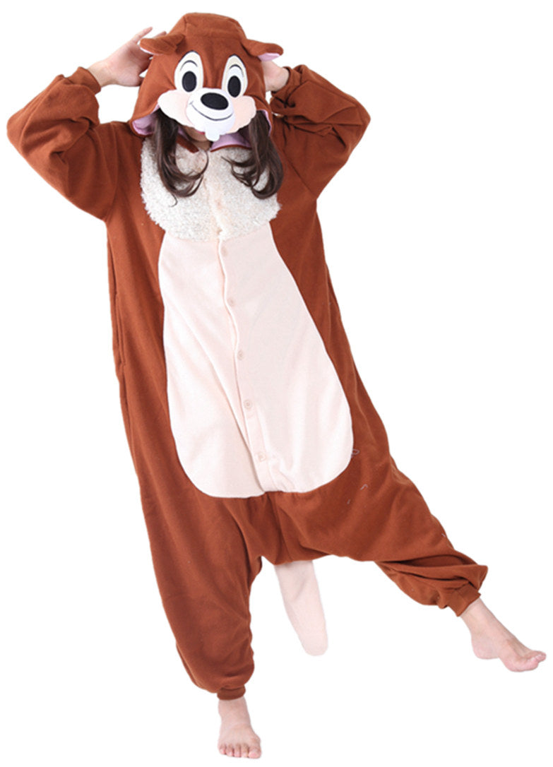 Brown Chipmunk Onesie - Fleece-Kigurumi-Belife