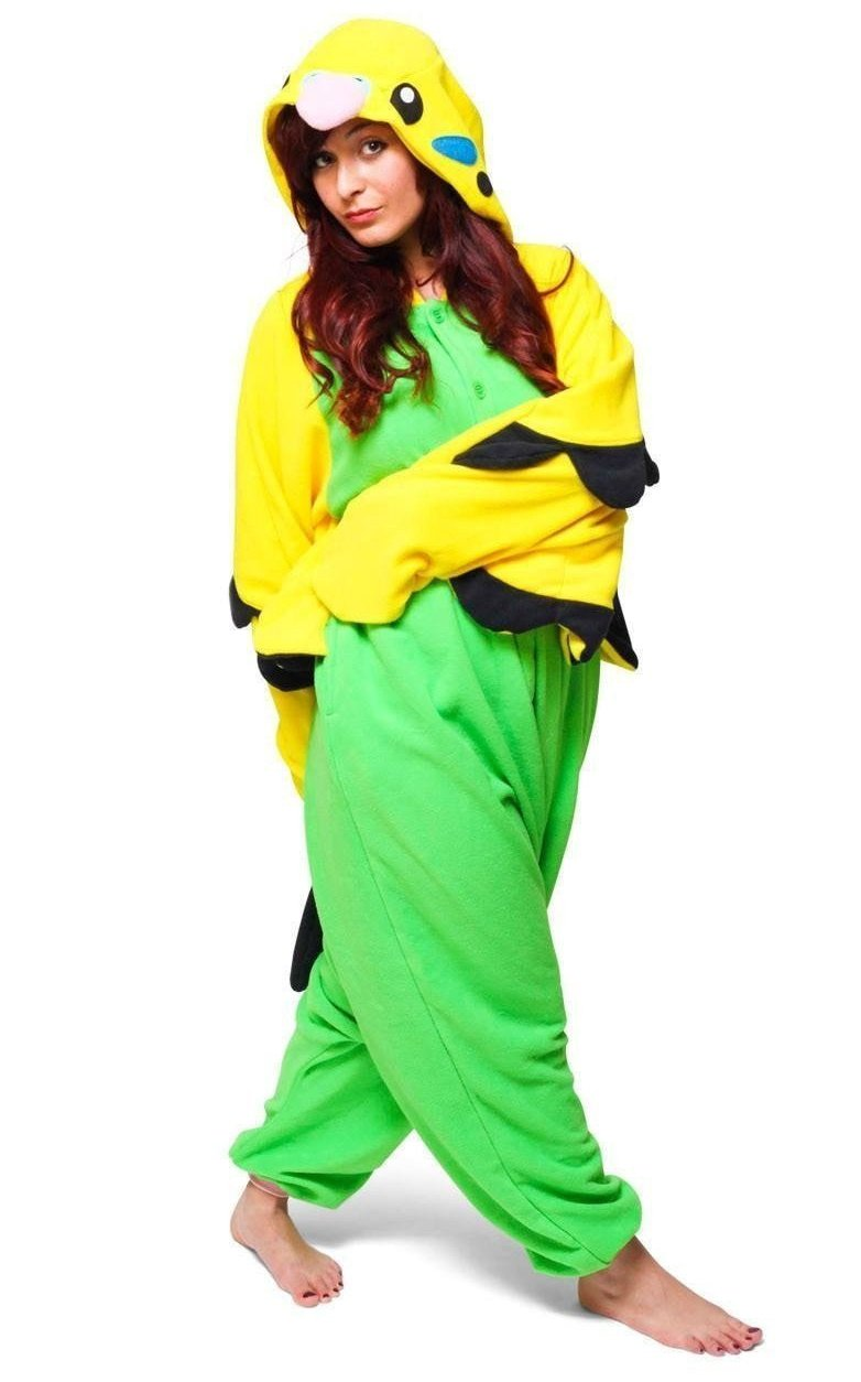 Green Budgie Onesie - Fleece-Kigurumi-Belife