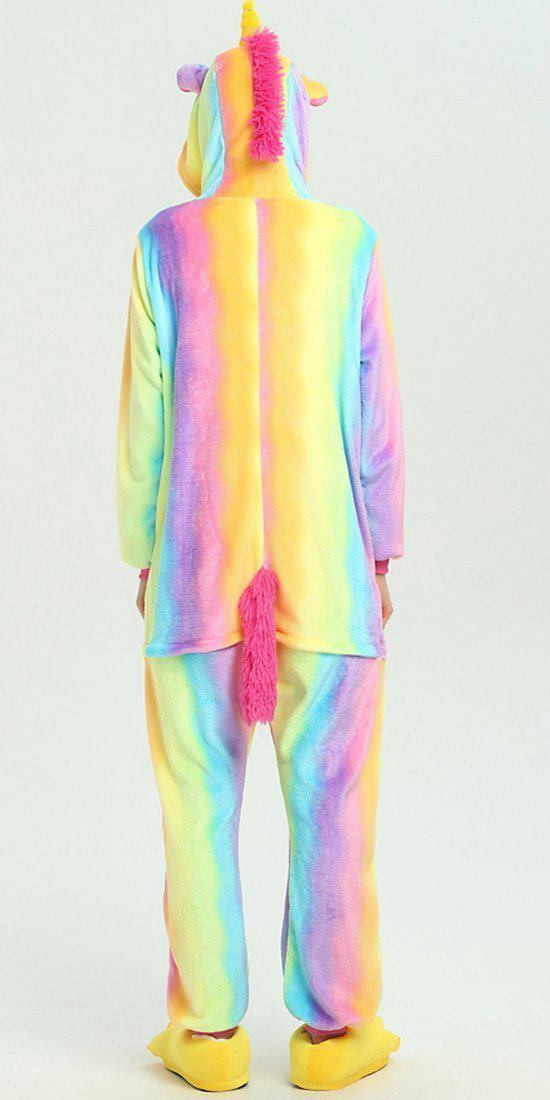 Rainbow Unicorn Onesie - Flannel-Kigurumi-Belife