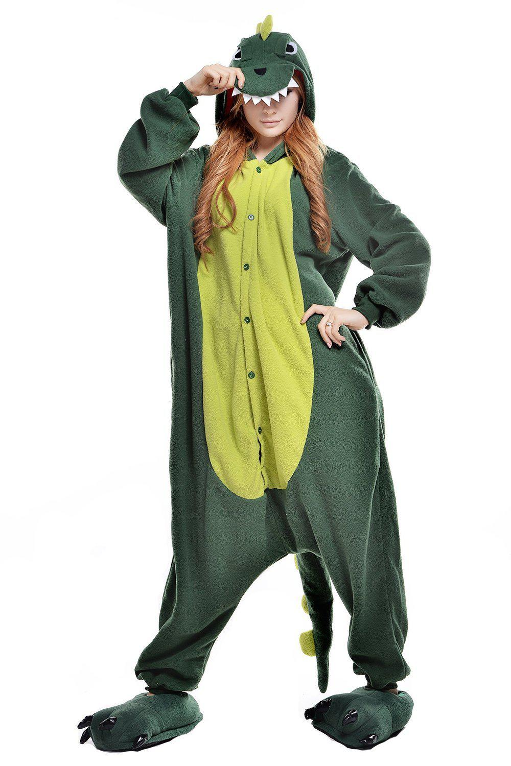 Green Dinosaur Onesie - Fleece-Kigurumi-Belife