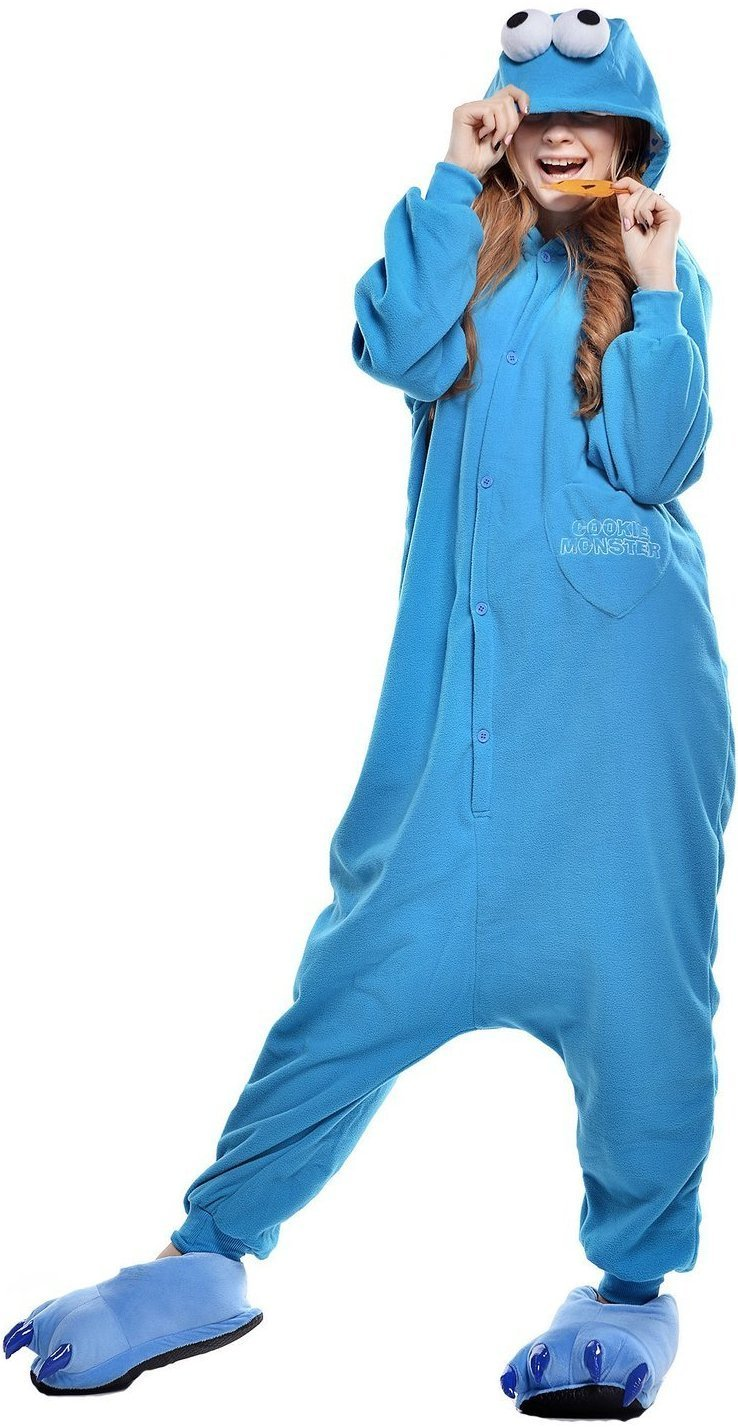 Cookie Monster Onesie - Fleece-Kigurumi-Belife