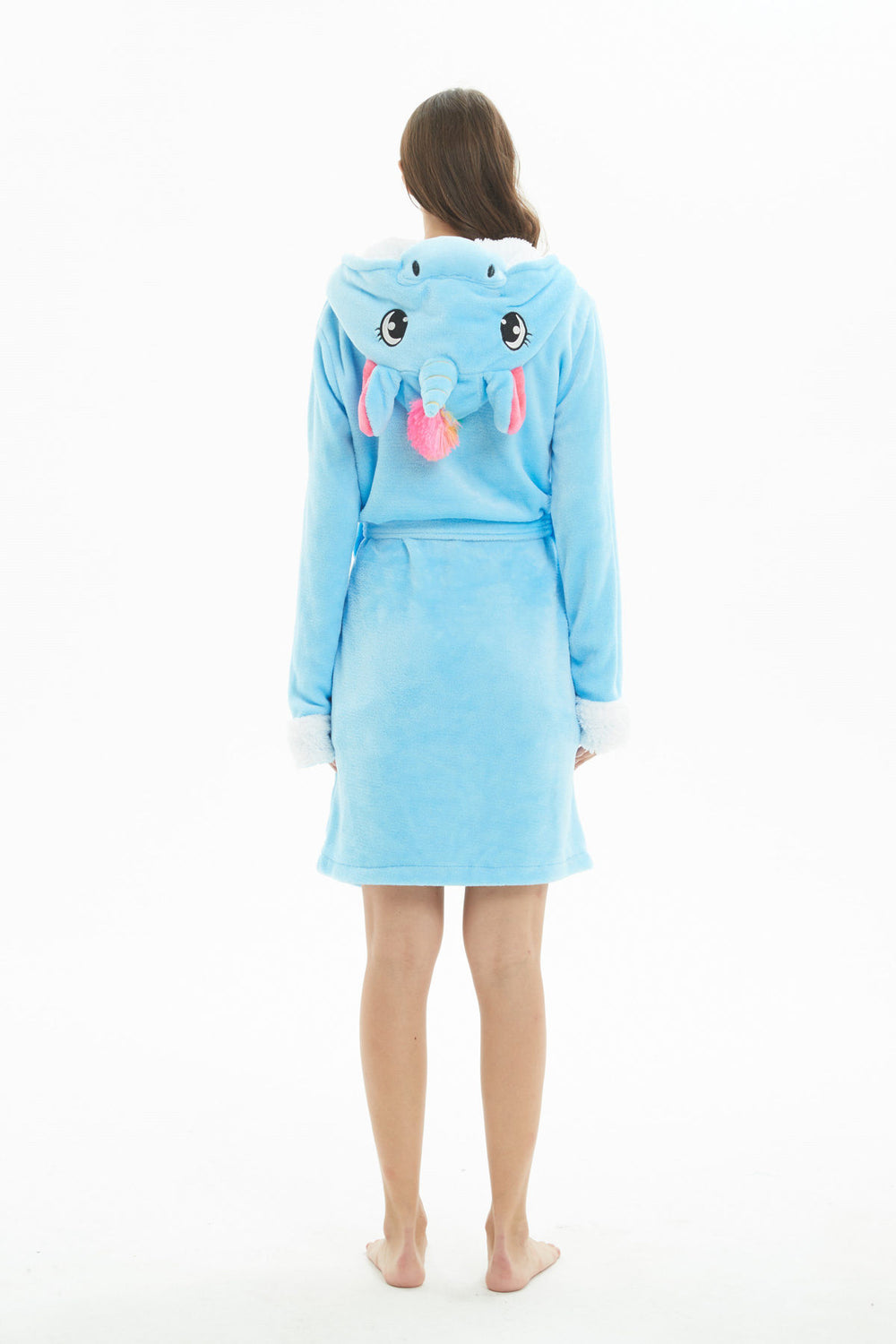 Unicorn Hooded Robe - Flannel-Bathrobe-Belife
