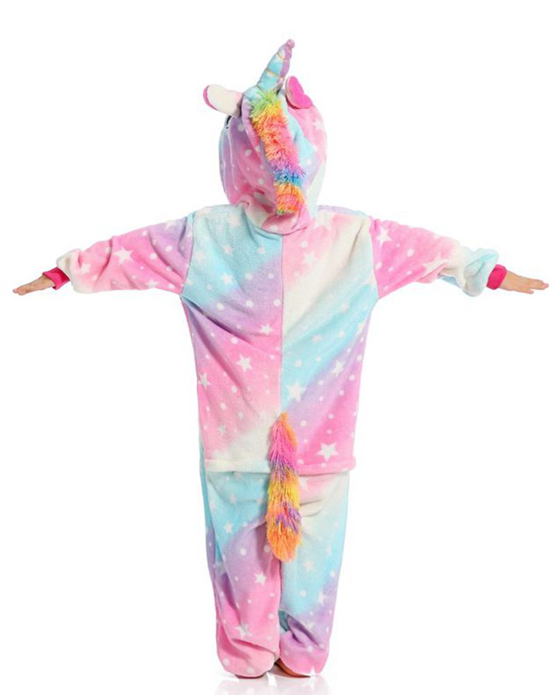 Pink Galaxy Unicorn Onesie - Flannel Zipper-Kigurumi-Belife