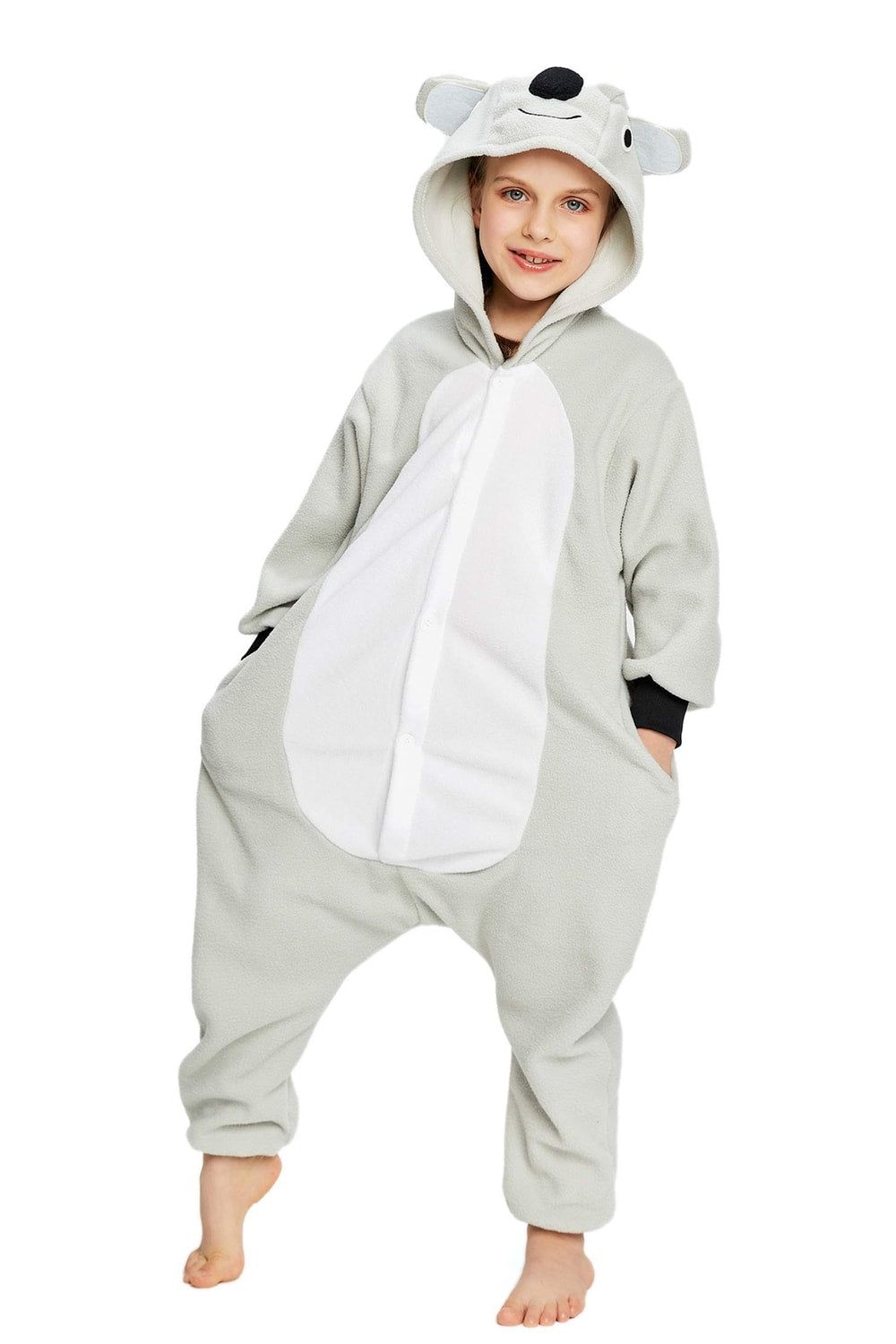 Grey Koala Onesie - Fleece-Kigurumi-Belife