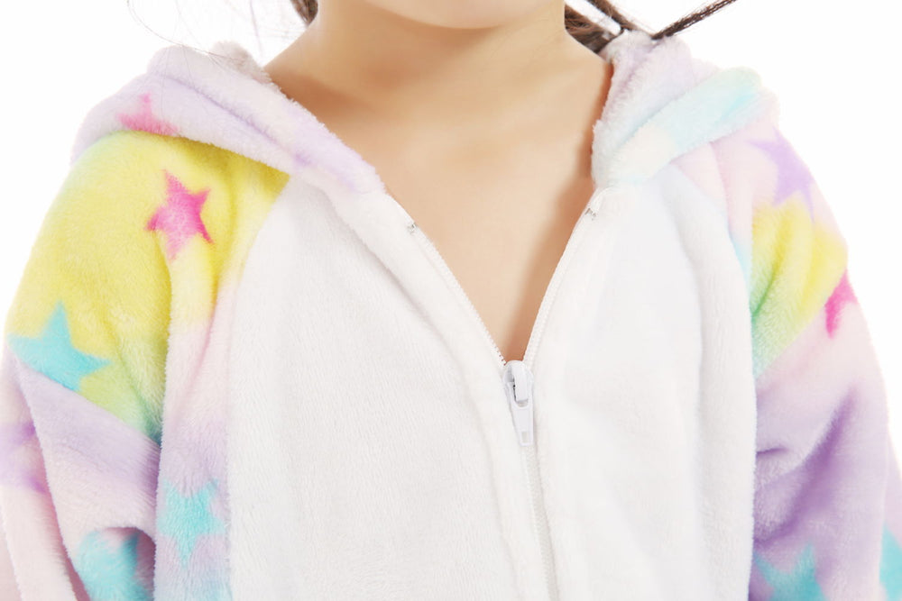 Dreamin' Star Unicorn Onesie - Flannel Zipper-Kigurumi-Belife